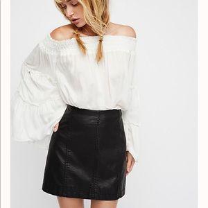 Vegan Leather Skirt - Free People
